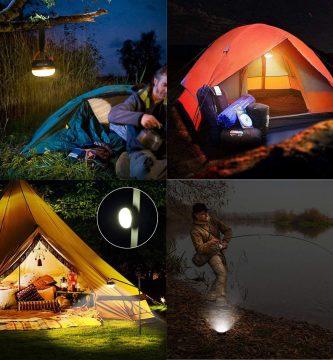 lámpara camping
